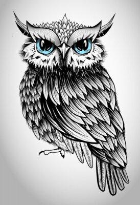 Canvas print Owl Lady - beautiful vector illustration