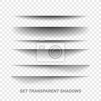 Canvas print Page divider. Transparent realistic paper shadow effect set. Web banner.