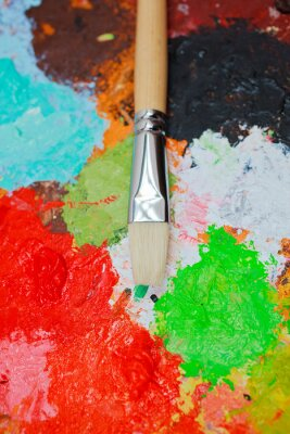 Paintbrush and colors