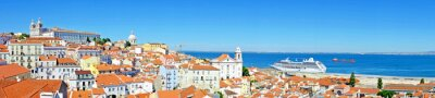 Canvas print Panorama from Lisbon in Portugal