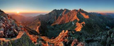 Canvas print Panorama mountain autumn landscape