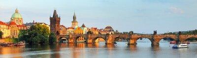 Canvas print Panorama of Charles bridge in Prague, Czech republic