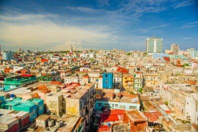 Canvas print Panorama of Havana city Vedado District