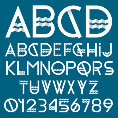 Canvas print Paper font and numbers