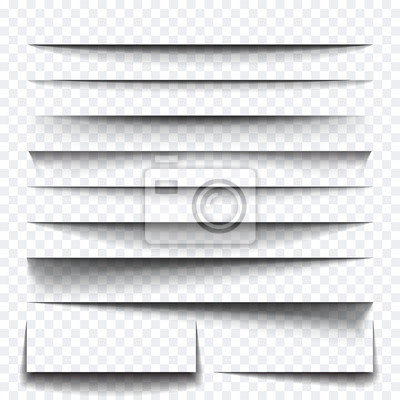 Canvas print Paper sheet shadow effect