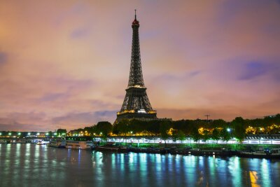 Canvas print Paris cityscape with Eiffel tower