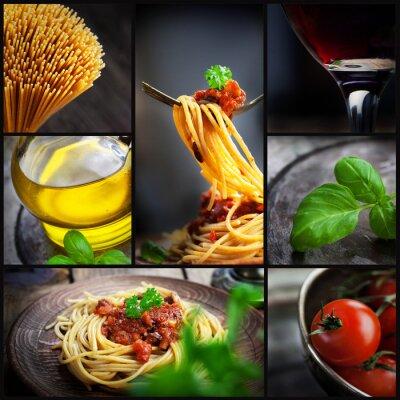 Canvas print Pasta collage