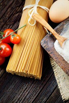 Canvas print Pasta ingredients