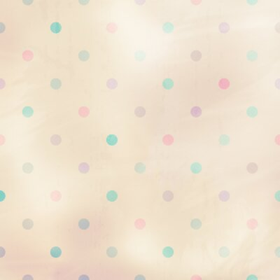 Canvas print pastel background with dots