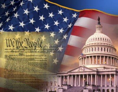 Canvas print Patriotic Symbols - United States of America