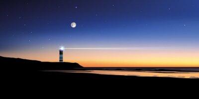 Canvas print Paysage phare-mer