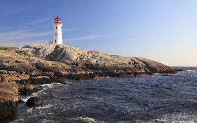 Canvas print Peggy Cove Lighthouse, Nova Scotia, Canada