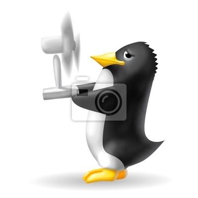 penguin with fan