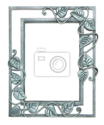 Pewter Picture Frame With Leaves