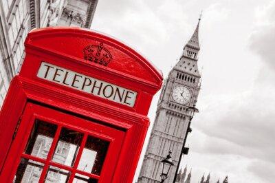 Canvas print Phone booth. London, UK