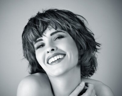 Canvas print Photo of beautiful laughing woman