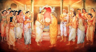 Picture in a temple