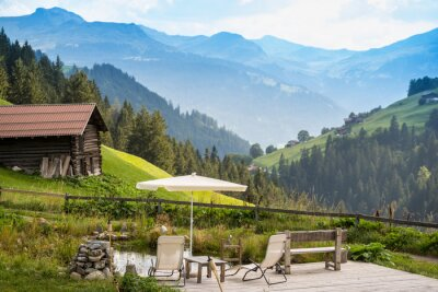 Canvas print Picturesque Relaxing Point To Relax In The Alps