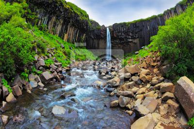 Canvas print Picturesque waterfall Svartifoss
