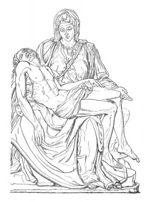 Canvas print Pieta - Michel-Ange