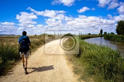 Pilgrim on the way to Santiago