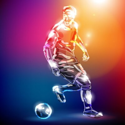 Canvas print piłka nożna wektor