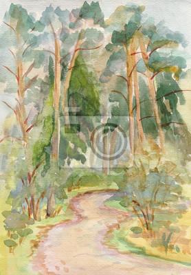 Canvas print Pines