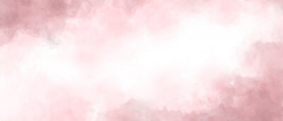 Canvas print Pink color abstract watercolor background
