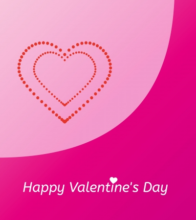 pink gift card and happy valentine's day with dotted heart