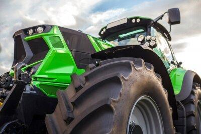 Canvas print plain modern tractor