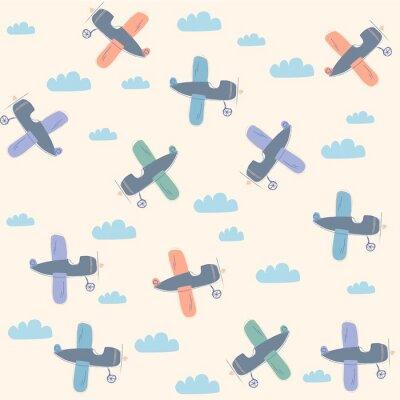 Canvas print  planes pattern