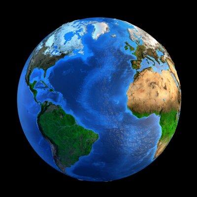 Canvas print Planet Earth landforms