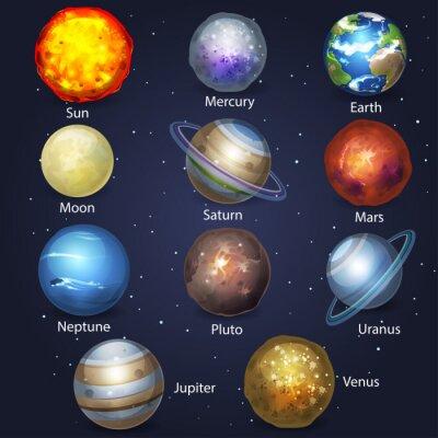 Canvas print Planet set 2