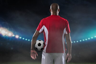 Canvas print Player with soccer ball