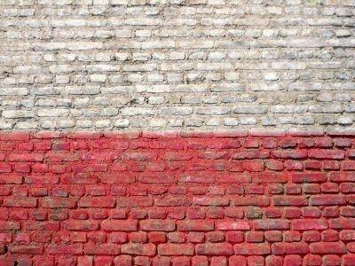 Canvas print Poland flag painted on a wall