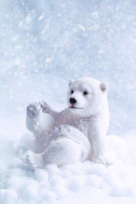 Canvas print Polar Bear Figure