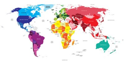 Canvas print Political Map of the World
