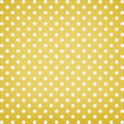 Canvas print Polka dot background