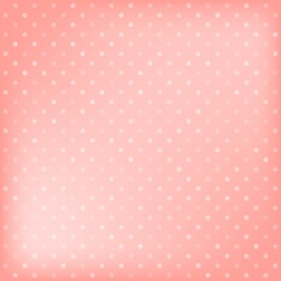 Canvas print Polka dot pink background