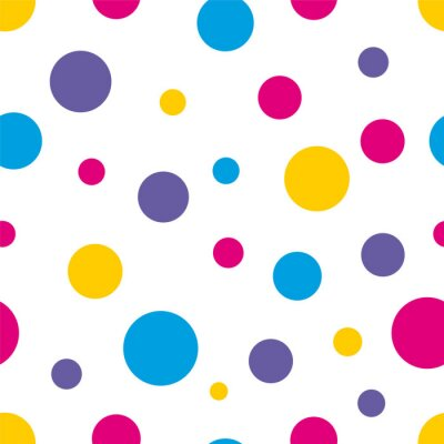 Canvas print Polka Dot Seamless colorful background