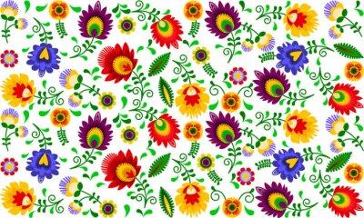 Canvas print Polski folklor - kolorowy wzór