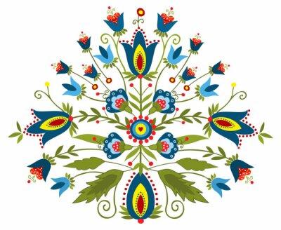 Canvas print Polski wzór ludowy - inspiracja