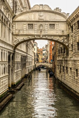 Canvas print Ponte dei Sospiri, Venice, Italy