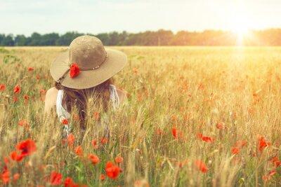 Canvas print poppies field