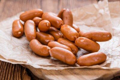 Canvas print Portion of Mini Sausages