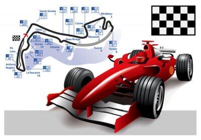 Canvas print Poster Monaco Formula 1 Grand Prix