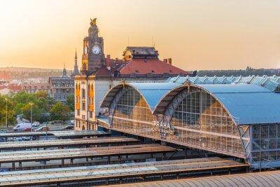 Canvas print Prague Main Train Station, Hlavni nadrazi, Prague, Czech Republic