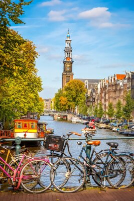 Canvas print Prinsengracht canal in Amsterdam