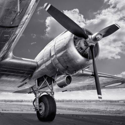 Canvas print propeller of an aircraft
