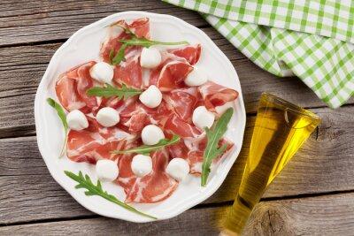 Canvas print Prosciutto and mozzarella